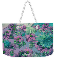 Weekender Tote Bag featuring the photograph Flowers And Paper by Barbara Tristan
