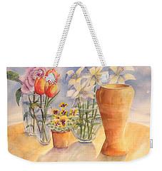 Flowers And Terra Cotta Weekender Tote Bag