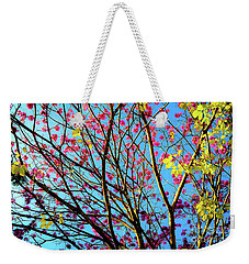 Weekender Tote Bag featuring the photograph Flowers And Trees by D Davila