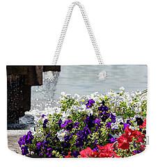 Flowers And Water Weekender Tote Bag