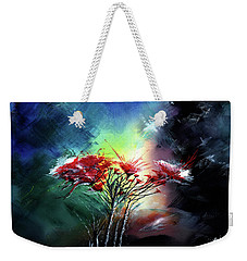 Weekender Tote Bag featuring the painting Flowers by Anil Nene
