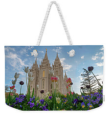 Flowers At Temple Square Weekender Tote Bag