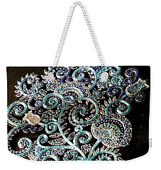Flowers Blue Weekender Tote Bag