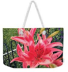 Flowers By The Gate Weekender Tote Bag