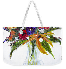 Flowers For An Occasion Weekender Tote Bag by Dick Bourgault