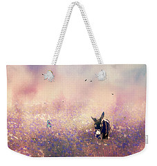 Weekender Tote Bag featuring the photograph Flowers For Breakfast by Diane Schuster