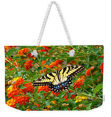 Flowers For Butterflies Weekender Tote Bag by Sue Melvin