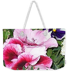 Weekender Tote Bag featuring the photograph Flowers From The Heart by Jolanta Anna Karolska