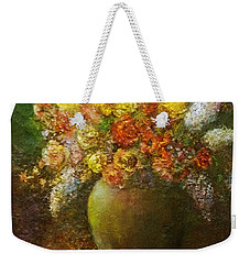 Flowers I A Green Vase Weekender Tote Bag