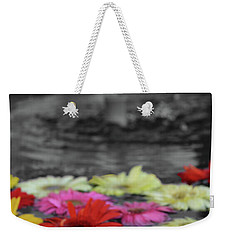 Flowers In Fountain Weekender Tote Bag