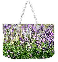 Flowers In The Field  Weekender Tote Bag by Lyle Crump