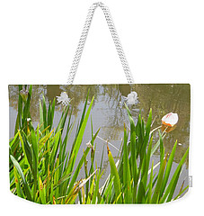Flowers In The Water Weekender Tote Bag by Esther Newman-Cohen