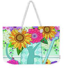 Flowers In Watering Can Weekender Tote Bag