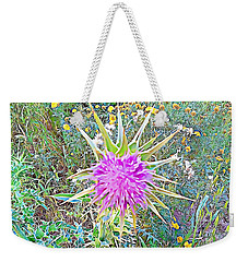 Weekender Tote Bag featuring the mixed media Flowers by Lucia Sirna