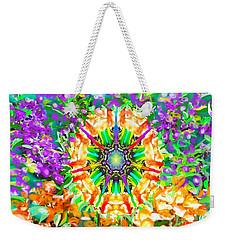 Flowers Mandala Weekender Tote Bag