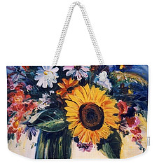 Flowers Weekender Tote Bag by Mikhail Zarovny