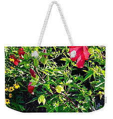 Flowers Of Bethany Beach - Hibiscus And Black-eyed Susams Weekender Tote Bag