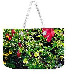Flowers Of Bethany Beach - Hibiscus And Black-eyed Susams Weekender Tote Bag