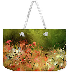 Weekender Tote Bag featuring the photograph Flowers Of Corfu by Lois Bryan