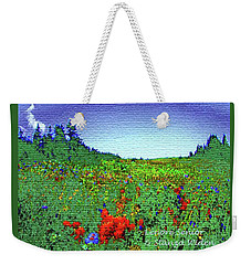 Flowers On Earth Weekender Tote Bag by Lenore Senior and Constance Widen