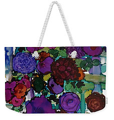 Flowers On Trellis Weekender Tote Bag by Alika Kumar