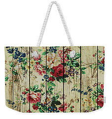Flowers On Wood 01 Weekender Tote Bag