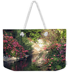 Flowers Over Pond Weekender Tote Bag