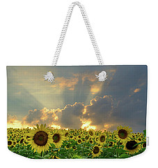 Flowers, Pillars And Rays, His Glory Will Shine Weekender Tote Bag