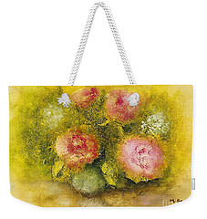 Flowers Pink Weekender Tote Bag by Marlene Book