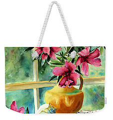 Flowers Shells And Lace Weekender Tote Bag