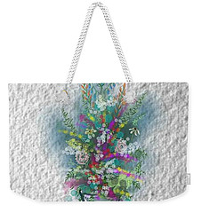 Weekender Tote Bag featuring the digital art Flowers Study Two by Darren Cannell