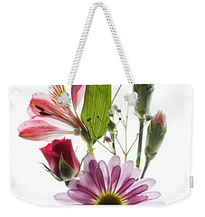 Weekender Tote Bag featuring the photograph Flowers Transparent 1 by Tom Mc Nemar