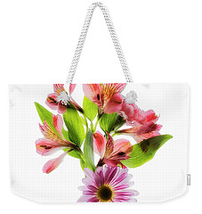 Weekender Tote Bag featuring the photograph Flowers Transparent  2 by Tom Mc Nemar