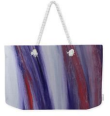 Red, White And Blue Flowing Energy Weekender Tote Bag by Karen Nicholson
