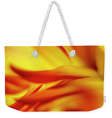 Flowing Floral Fire Weekender Tote Bag