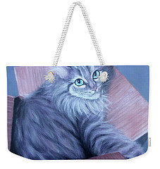 Fluff-in-the-box Weekender Tote Bag by Susan DeLain