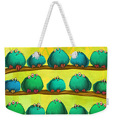 Fluff Rows Weekender Tote Bag by Andy Catling