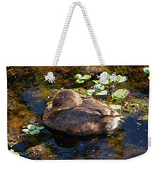 Weekender Tote Bag featuring the photograph Fluffball by Arthur Dodd