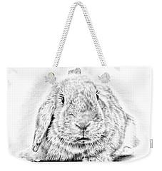 Fluffy Bunny Weekender Tote Bag