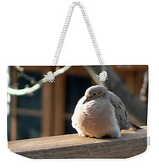 Weekender Tote Bag featuring the photograph Fluffy by Laurel Best