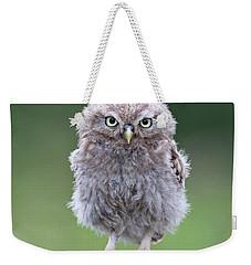 Fluffy Little Owl Owlet Weekender Tote Bag