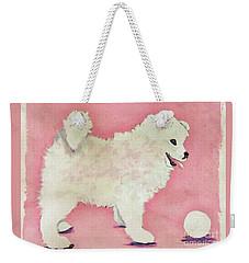 Fluffy Pup Weekender Tote Bag