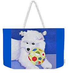 Fluffy's Portrait Weekender Tote Bag by Phyllis Kaltenbach