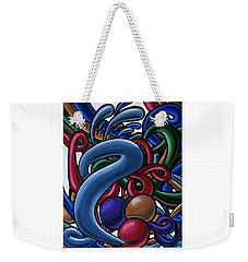 Fluid 1 - Abstract Art Painting - Chromatic Fluid Art Weekender Tote Bag