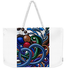 Fluid 2 - Original Abstract Art Painting - Chromatic Fluid Art Weekender Tote Bag