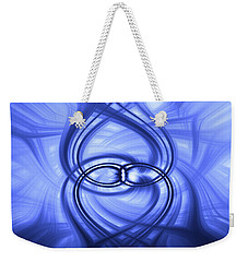 Fluid Blue Weekender Tote Bag by Carolyn Marshall