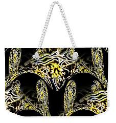 Weekender Tote Bag featuring the digital art Fluid Mass by Theodore Jones