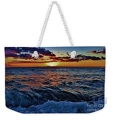 Fluid Sunset Weekender Tote Bag
