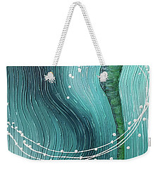 Weekender Tote Bag featuring the painting Fluidity by Phyllis Howard