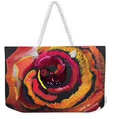 Fluorescent Rose Weekender Tote Bag by Meryl Goudey